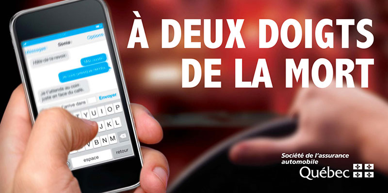 Campagne Saaq 2016 Cellulaire Et Texto Saaq