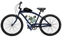 Illustration d'un vélo muni d'un moteur à combustion vu de profil